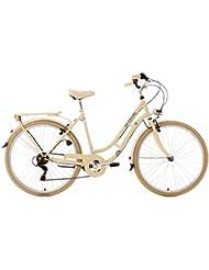 "KS Cycling Cityrad Casino - Bicicleta de paseo, color beige, ruedas 28"", cuadro 53 cm"