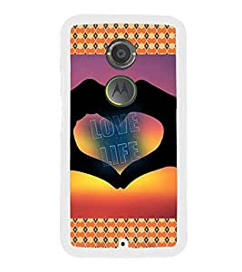 PrintVisa Designer Back Case Cover for Motorola Moto X2 :: Motorola Moto X (2nd Gen) (Symbol of Love Ethnic Pattern)