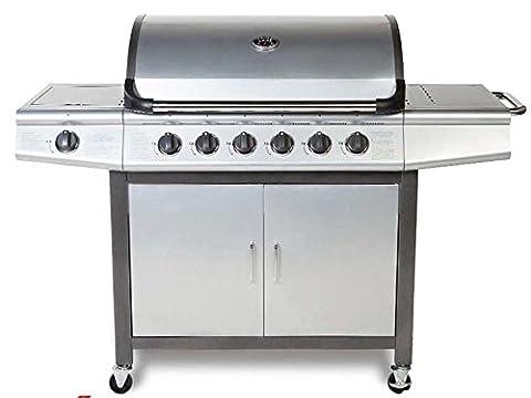 Generic NV _ 1001006297-wruk23< 1& 6297* 1> Brûleur UE Grill barbecue en 6+ 1Deluxe Inc côté barbecue à gaz Argent Brûleur 6+ 1Deluxe