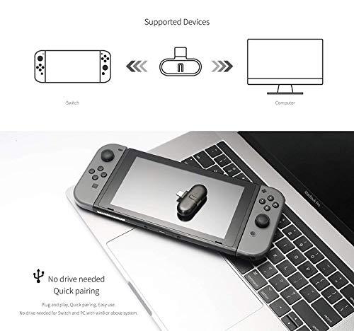 Kabelloser Bluetooth Adapter Kompatibel mit Nintendo Switch, GULIKIT ROUTE + Drahtloser Audio Kopfhörer Sender Lautsprecher USB Typ-C Adapter Sender und Transceiver Kompatibel mit Nintendo Switch - 6