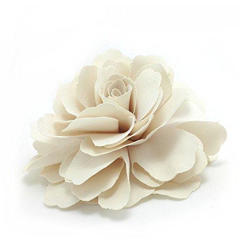 Meilliwish camelie fiore clip di capelli pin spilla (crema) (a74)