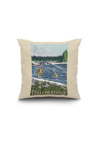 fly-fisherman-west-yellowstone-montana-16x16-spun-polyester-pillow-case-white-border