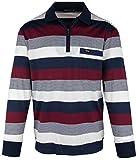 SOUNON Langarm-Poloshirt für Herren Bordeauxrot (M5), Groesse: L
