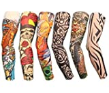 Autek 6 Stück Tattoo Tattoowiert Ärmel Arm Sleeve Strümpfe Tattooärmel Colletion Set J