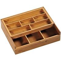 Kesper 70720 Aufbewahrungsbox, aus Bambus, Maße - 37 x 31.5 x 9.5 cm