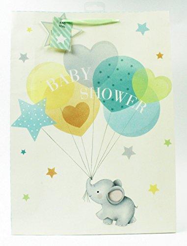 Tasche groß Unisex Glitzer Cute Boy Girl Mum to Be Luxus Tag (Geschenk-taschen Für Baby-dusche)