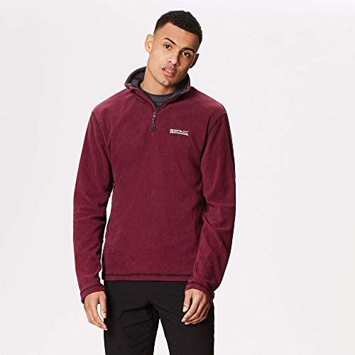 Regatta Mens Thompson Half Zip Light Thermal Anti Pill Fleece Jacket