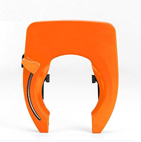 RUIX Fahrradschloss Smart U-Lock-Sicherheit Anti-Diebstahl-Handy-APP Bluetooth-Sperre,Orange