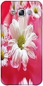 Snoogg beautiful flower in nature background Hard Back Case Cover Shield ForSamsung Galaxy E5
