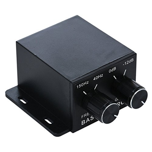Nobsound Auto Car Amplifier Audio Subwoofer Bass Control Knob Sub Gain Equalizer Regulator Frequency Controller RCA Line Level Adjust -