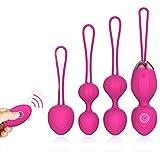 2 in 1 Kegel Übung Gewichte & Massage Ball Ben Wa Bälle Sets-Arzt empfohlen für Frauen & Mädchen Blase Control & Beckenboden Übungen (Pink)
