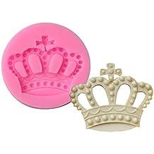 Molde de silicona de Cupcinu, con forma de corona de reina, para fondant,