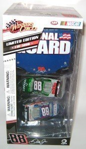 dale-earnhardt-jr-88-chevy-impala-ss-iridescent-2-car-amp-national-guard-1-64-scale-set-1-24-scale-n