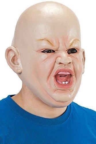 Herren Angry Großes Baby gruselig Halloween Gesichtsmaske Kostüm Verkleidung Zubehör