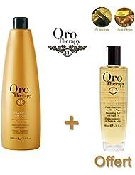 Lot shampooing illuminant 1000ml Oro Therapy avec fluide 100ml offert