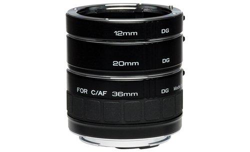 Kenko DG Auto Extension Set - Adaptador para objetivos de cámaras Nikon-AF, Negro