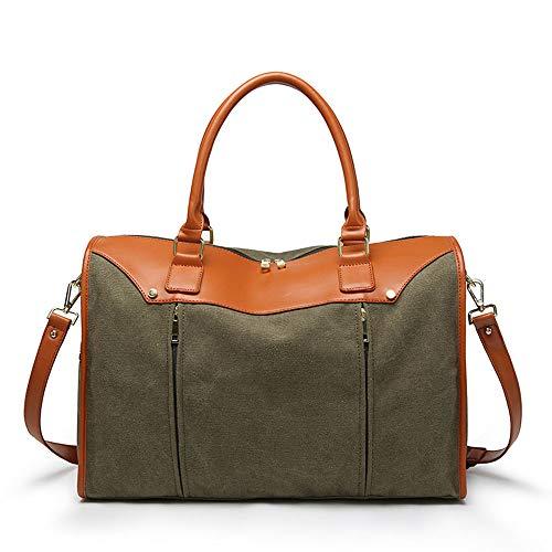 High Capacity Herren Business-Handtasche Outdoor-Gepäcktasche Canvas Schulter geschleudert Großhandels-Mobile Business HandbagHandbag mit großer Kapazität (Farbe : Armeegrün) -