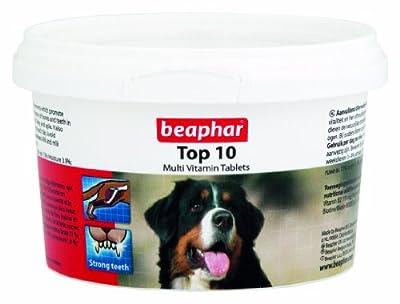 BEAPHAR TOP 10 DOG MULTIVITAMIN TABLETS 180 TABLETS / 117g VITAMINS & MINERALS from Beaphar