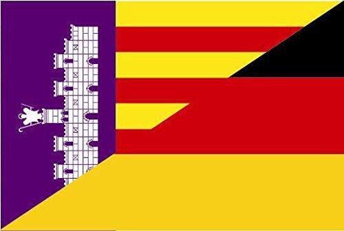 U24 Aufkleber Mallorca-Deutschland Flagge Fahne 8 x 5 cm Autoaufkleber Sticker
