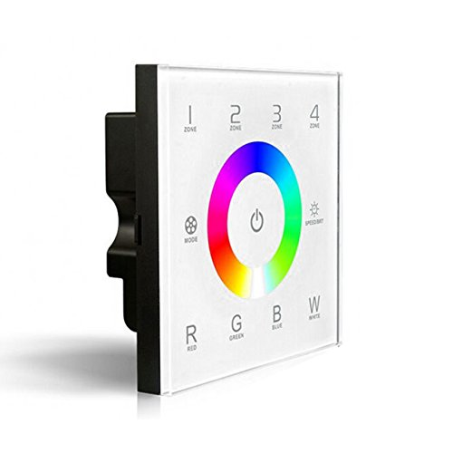 DX8 Touch Panel RGBW 4 Zonen LED Controller Dimmer 220V 240V Wand Montiert für RGB+ W LED Beleuchtung Strip Lights Wand-montiert Beleuchtung