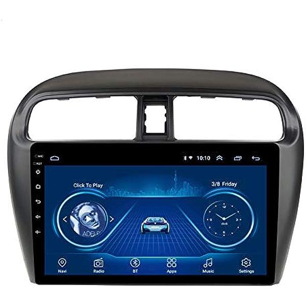 Xxrug Android Auto Stereo Navi Für Mitsubishi Mirage Attrage 2012 2018 Head Unit Gps Navigationssystem Swc 4g Wifi Bt Usb Aux Radio Sport Freizeit