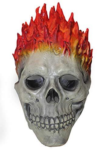 (Escapade Erwachsene Feuerschädel Maske Halloween Biker Geister Rider Zombie Kostüm Zubehör)