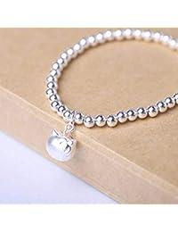 5df07a4e70 SEBAS HOME Pulsera hecha a mano geométrica de plata 925 S925 de la moda  occidental de las mujeres Pulsera de plata…