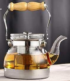 SHICHAHUZI Olla de Vidrio de Titanio, se Puede Calentar para cocinar Tetera (Olla Individual