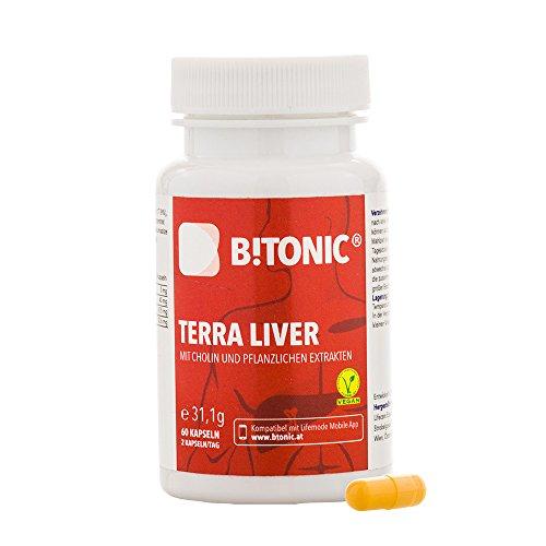 Integratore Alimentare Depura Fegato con Curcuma + Colina + Bioperine + Estratto Carciofo + 100% Vegan + 60 Pillole - Terra Liver by B!Tonic