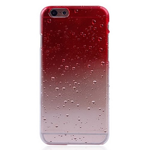 Phone case & Hülle Für IPhone 6 / 6S, Regentropfen Gradient Hard Case ( Color : Dark Blue ) Red