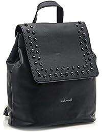 Mariamare AMBAR-C43465 - Bolso mochila de Sintético para mujer Negro Cros Negro/Schwarz