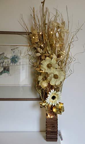 Productos enlace: jarrones madera flores plantas artificiales