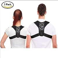 Paar 2 Stücke, Rücken Haltung Brace Stützgürtel Für Frauen Oder Männer Körperhaltung Korrektor Korsett Orthopädische Stützgürtel Für Hals Schultern Und Rückenschmerzen,XL