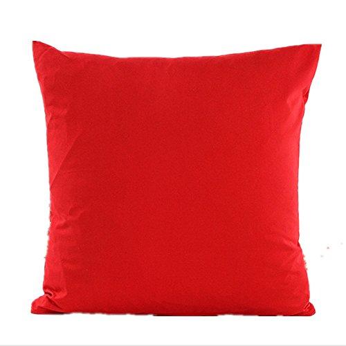 Hangood divano federa cuscini decorazioni per la cas cotone colore rosso fisso 45cm x 45cm
