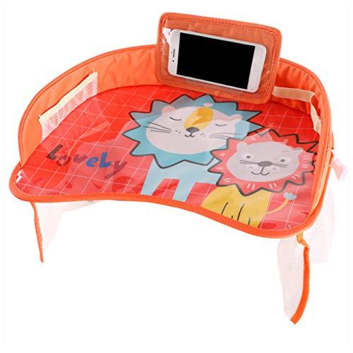 Kafen Cartoon Autositzschale - Lagerung Baby-Karikatur-Tabelle Mit örtlich Festgelegtem Bügel wasserdichte Platte (Baby Tabelle)