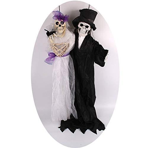 Bräutigam Braut Und Kostüm Skelett - HBWZ Halloween-Braut-Bräutigam, der Geist-Verzierungs-Skelett-Skelett-großes Geist-Haus-Sprachsteuerungsterrorist-Requisiten hängt