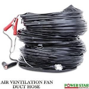 Industriel portable Ventilateur d'extraction d'air axial Ventilateur d'échappement Explosion Preuve (EX) aération Ventilateur avec conduit 45,7cm - , 18 Pouces / 46 cm Conduit Uniquement