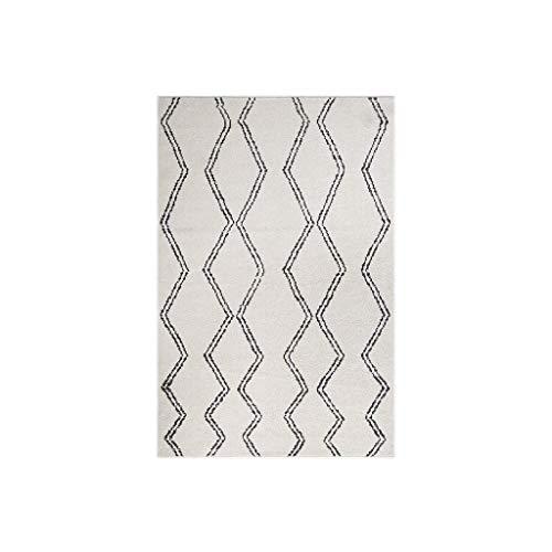 Teppiche JXLBB 1,33x1,9 m marokkanischen Stil Plus weich gepolsterte Wohnzimmer Couchtisch Decke Schlafzimmer Nachttischdecke Decke Polypropylen geometrische Diamant Beige