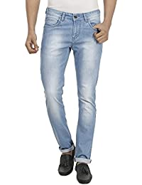 FEVER Men Solid Jeans, Light Blue - B01AI4TKDU