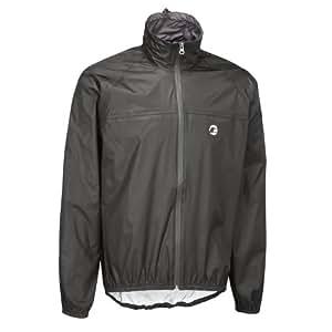 Tenn-Outdoors Men's Lightweight Compact Waterproof Cycling Jacket - Black, XXX-Large/48-50 Inch