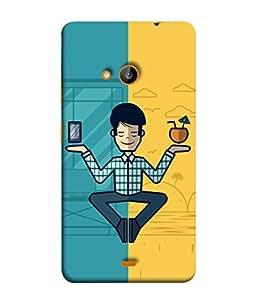 PrintVisa Designer Back Case Cover for Microsoft Lumia 535 :: Microsoft Lumia 535 Dual SIM :: Nokia Lumia 535 (Love Lovely Attitude Men Man Manly)