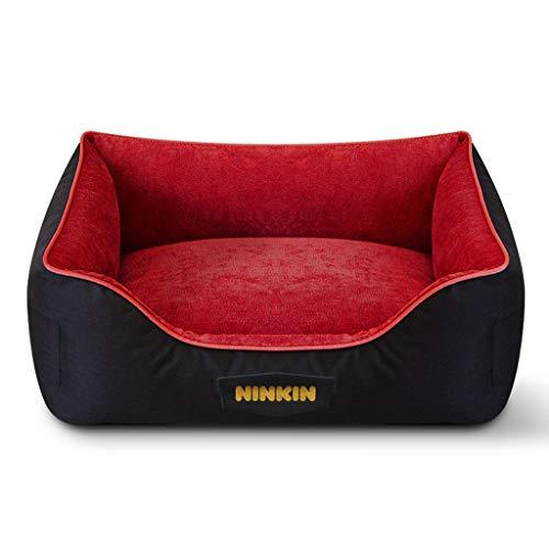 JM- Haustier-Sofabett - Hund, Katze oder Welpe Memory Foam Matratze bequeme Couch für Haustiere mit abnehmbarem waschbarem Bezug (Farbe : Red, größe : L) -