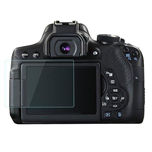 Canon EOS 750d 760d 70d LCD Protection d'écran en verre trempé par Lokeke, épaisseur de 0,3mm, fabriqué à partir de verre véritable