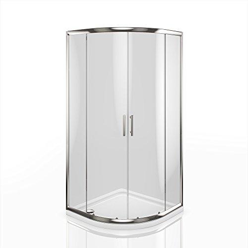 Viertelkreis Duschkabine Sicherheitsglas 90x90 cm im Test
