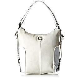 ctta caminatta Rompeolas, Bolso mochila para Mujer, (Gris Perla), 12x30x27 cm (W x H x L)