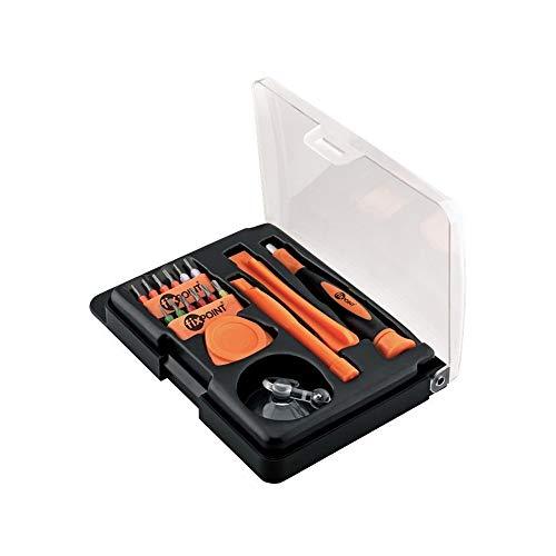 Fixpoint Smartphone Werkzeugset - 17-teilig zum Öffnen und zur Reparatur von Smartphone, Tablet, Laptop etc, 1 Stück, 44690