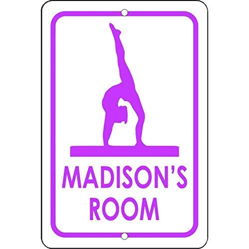 Dozili personnalisé Gymnastique personnalisée Panneau de Chambre Votre nom en Aluminium Sign 12\