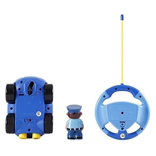 Tellaboull Funny Plastic Kids Baby Toddlers Cartoon Policía RC Race Car Control Remoto Coche Juguetes Niños Regalos Juguetes para niños