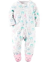 22cb11de34 Carter's Strampler für Mädchen Fleece Einteiler warm Winter mit Reißverschluss  Schlafanzug ...