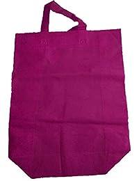 "Krishna Non Woven Box Pack Bag (SIZE: 17"" X 15"" X 4""-Inches) Pink, 100 Pcs."